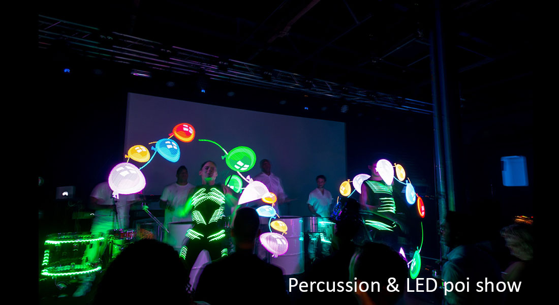 Percussion LED show