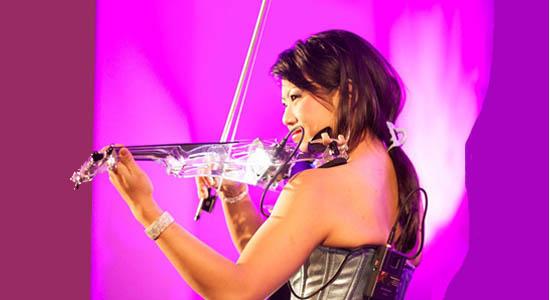 Violiste Miss Sun opelektrische viool