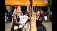 Donna e Mobile harp sopraan duo buiten