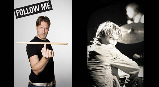 Mobiel percussionist duo 'Follow Me'