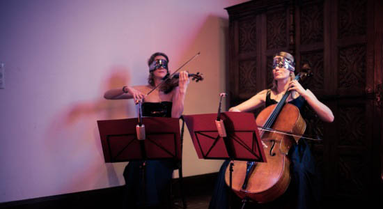 Cello-viool duo Saskia en Marleen