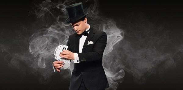 rondlopende goochelaar
