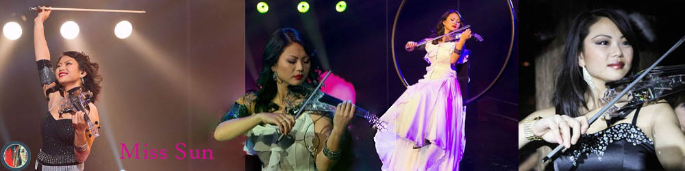 Electric violin act Miss Sun elektrische violiste