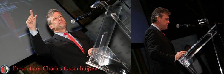 Dagvoorzitter, discussieleider en presentator Charles