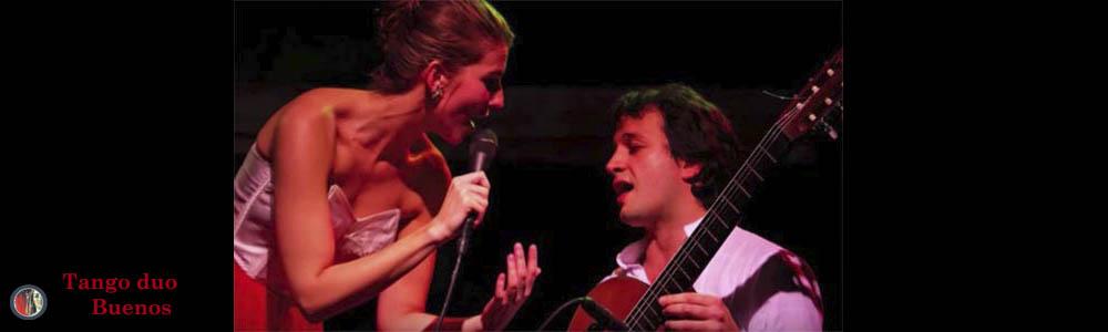 Argentijnse muziek van tangozangeres en gitarist
