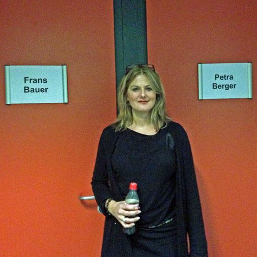 Helena Gitzels tijdens productie Berlijn