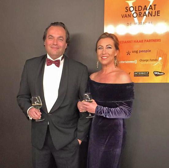 Katelijne en Bas van Otterloo tijdens gala Soldaat van Oranje de musical 2015
