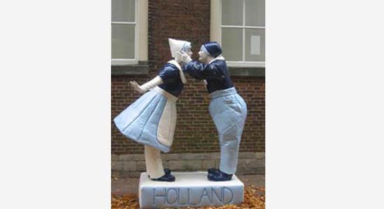 Delfts blauw standbeeld - hollands entertainment