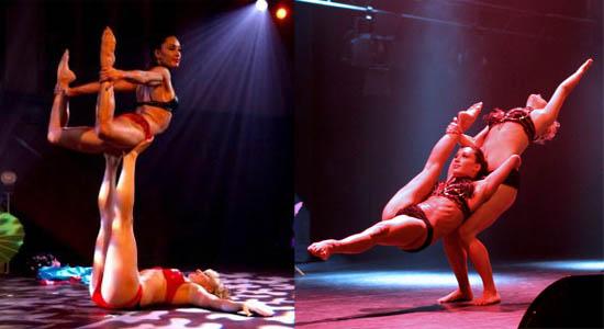 Showdanseressen Eva grondacrobatiek