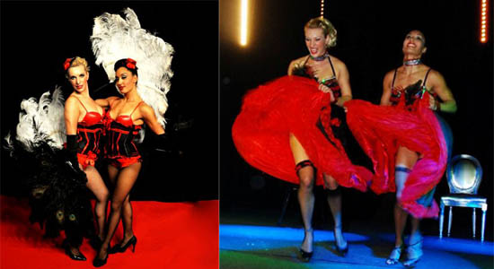 Showdanseressen Moulin Rouge