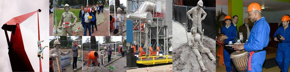Act start bouwproject eerste paal slaan eerste steenlegging