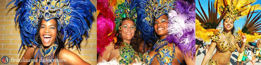 Braziliaanse danseressen en percussie
