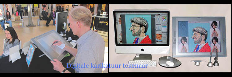 Digitale karikatuur tekenaar