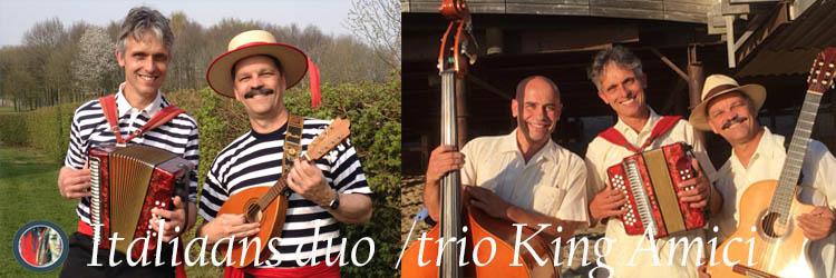 Italiaans duo of trio King Amici, mobiele Italiaanse muziek