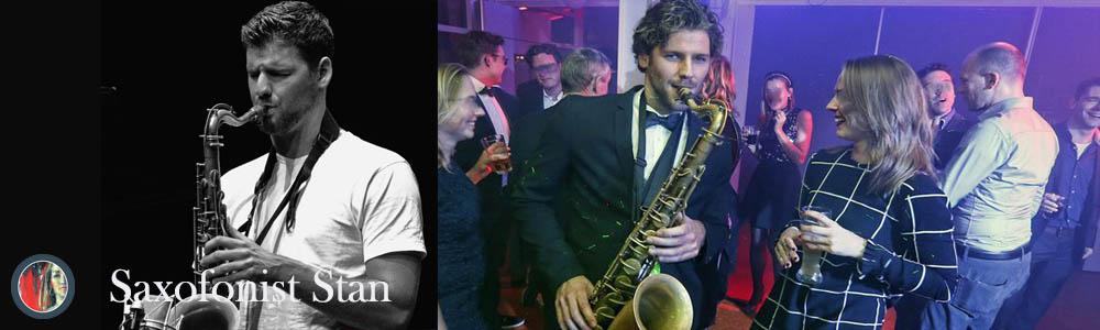 Saxofonist Stan DJ sax jazz trio met saxofoon