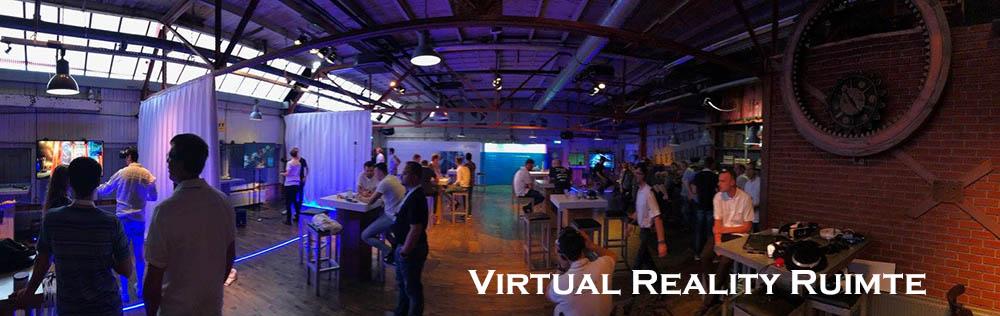 Virtual Reallity ruimte met VR brillen op evenement