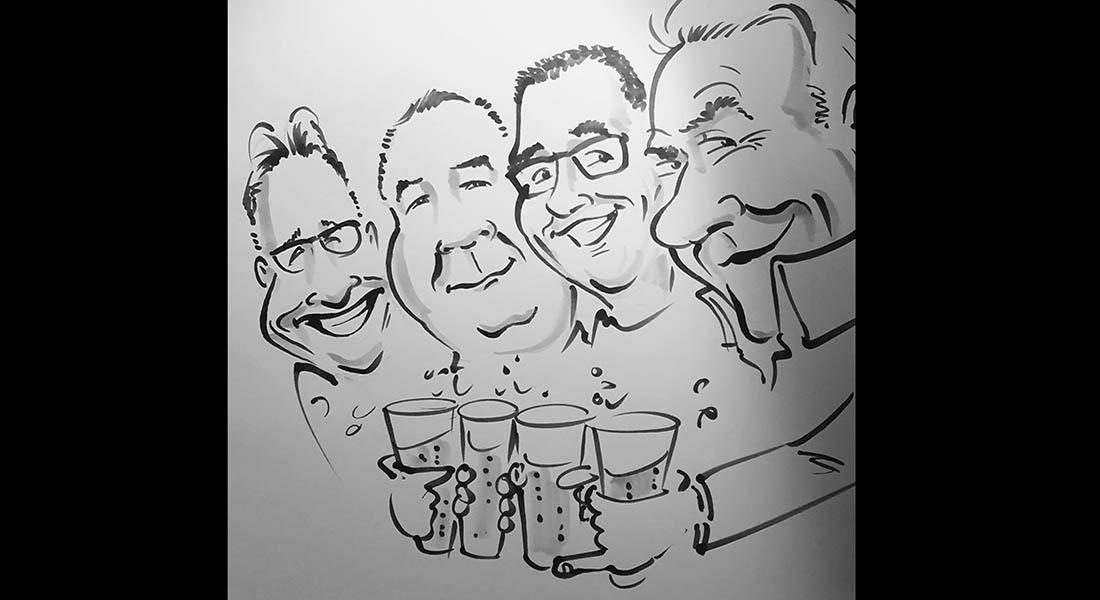 Karikaturist sneltekenaar Bram