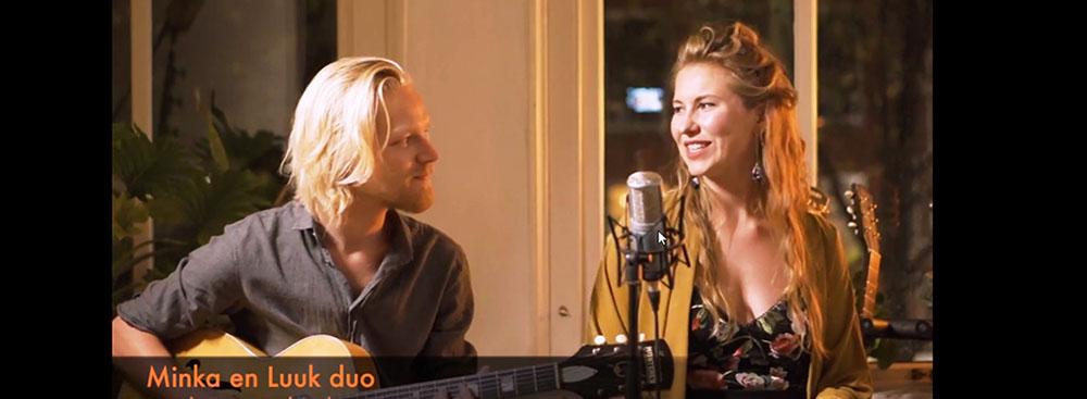 Minka en Luuk gitaar zang duo
