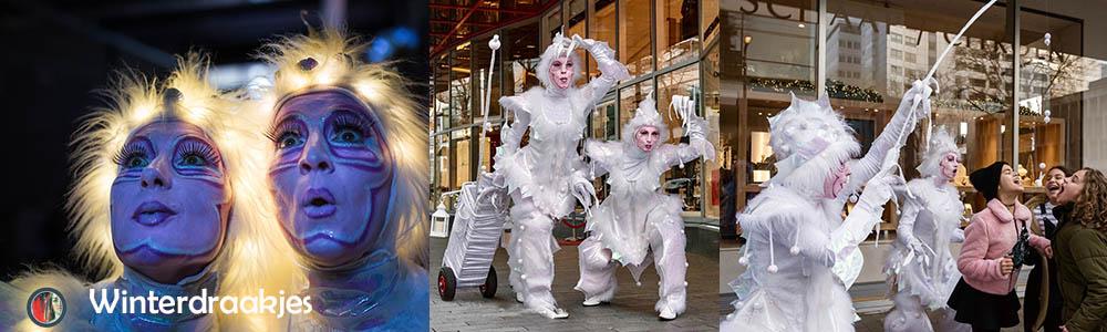 Winter Wonderland entertainment witte draakjes
