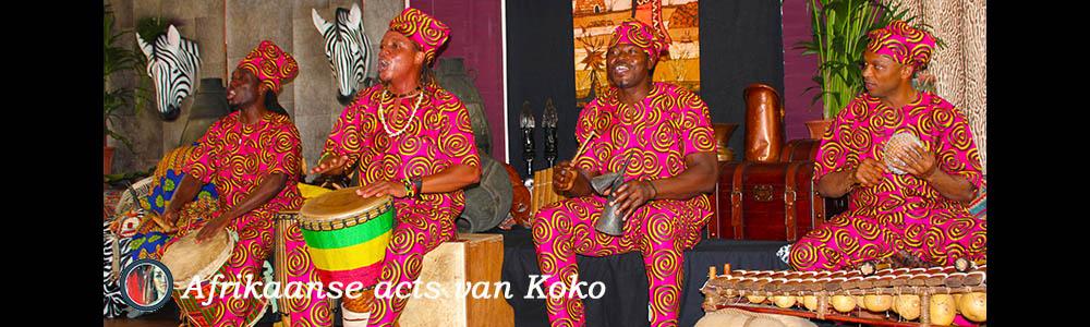 Afrikaanse muziek dans act Koko